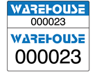Assetmark dual serial number label (full design), 26mm x 30mm