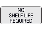 No shelf life required aluminium foil labels.