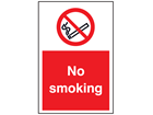 No smoking symbol and text floor marker