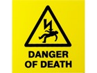 Danger of death label