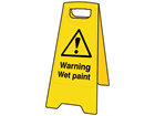 A-board, warning wet paint