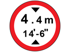 Height width allowed sign