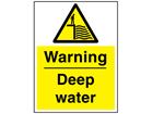 Warning deep water sign.