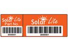 Scanmark dual barcode label (full design), 20mm x 60mm