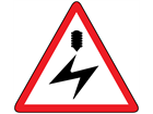 Overhead electrical cable sign