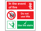 In the event of fire safety sign.