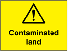 Contaminated land sign.