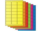Fluorescent paper labels, 38.1mm x 63.5mm