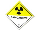 Radioactive 7 hazard warning diamond sign