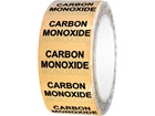 Carbon monoxide pipeline identification tape.