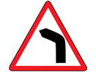 Bend to the left sign