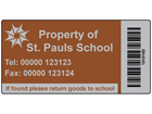 Scanmark foil barcode label (logo / full design), 38mm x 76mm