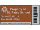 Scanmark foil barcode label (logo / full design), 38mm x 76mm