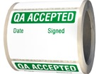 Jumbo QA Accepted label - 250 Pack