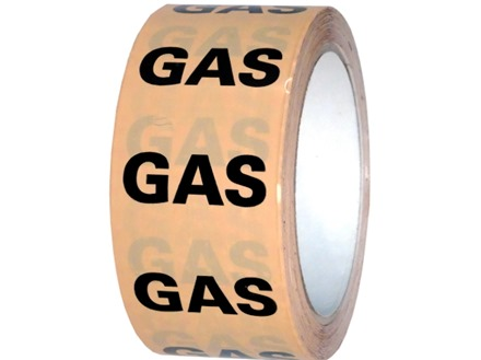 Gas pipeline identification tape.
