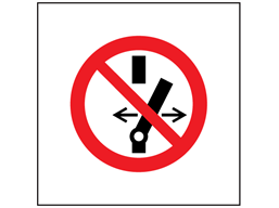 Do not alter switch setting symbol safety sign.