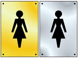 Ladies symbol door sign.