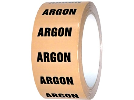 Argon pipeline identification tape.