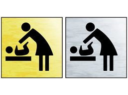 Baby changing facility public area sign