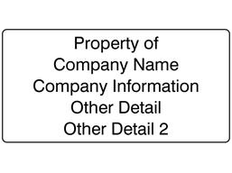 High Temperature Labels, 38mm x 76mm