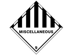 General hazard miscellaneous 9 hazard warning diamond sign