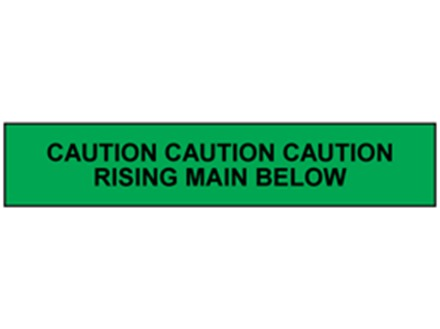 Caution rising main below tape.