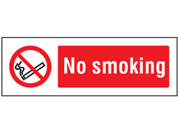No smoking safety sign.