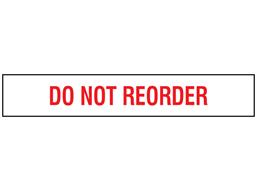 Do not reorder stock rack label.