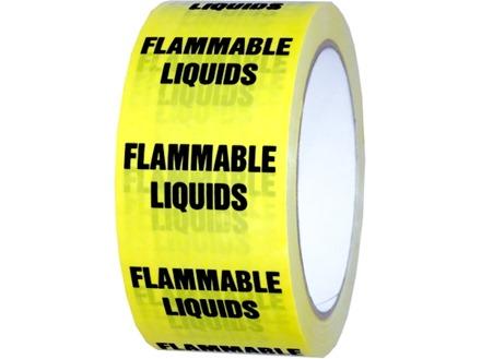 Flammable liquids pipeline identification tape.