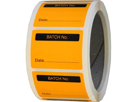Batch number fluorescent label