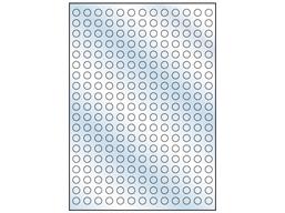 Clear polyester laser labels, 10mm diameter