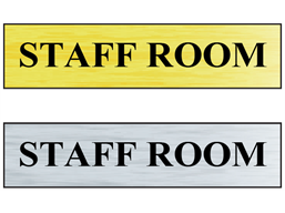 Staff room public area sign