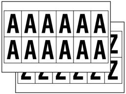 Multipurpose letter set, 38mm x 21mm