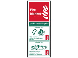 Fire Blanket Safety Sign Fs1860 Label Source