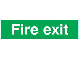 Fire exit, mini safety sign.