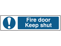 Fire door Keep shut, mini safety sign.