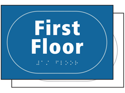 First floor sign.