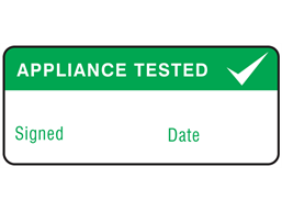 Appliance tested label equipment label.