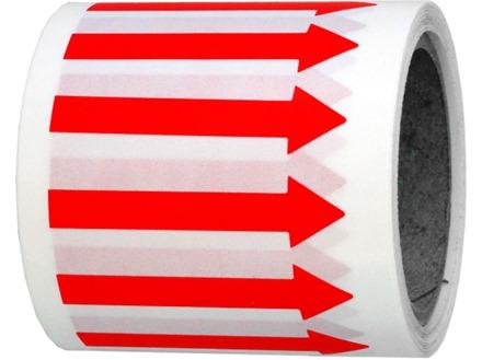Horizontal red arrow label