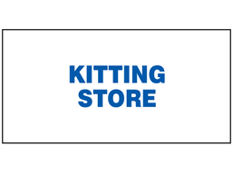 Kitting store sign