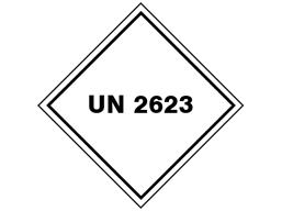 UN 2623 (Firelighters) label.