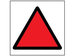 High risk assessment label.