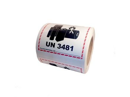UN3481 lithium ion battery label