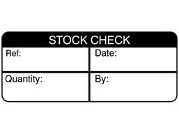 Stock check label