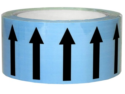 Flow indication tape for air