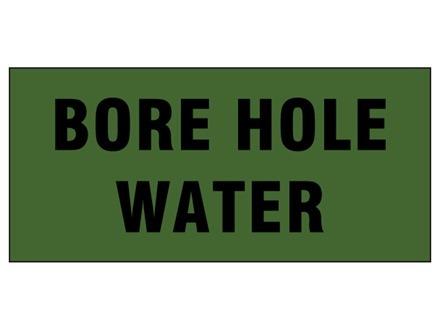 Bore hole water pipeline identification tape