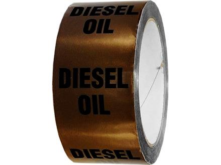 Diesel oil pipeline identification tape.