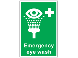 Emergency Eye Wash Symbol And Text Sign Ss2370 Label