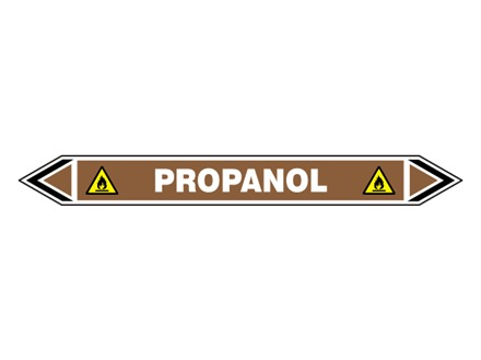Propanol flow marker label.