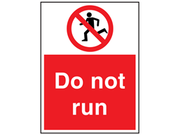 Do not run sign.